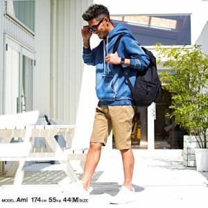 CavariA キャバリア カットデニム ビッグシルエット 長袖 プルオーバー パーカー 全2色 メンズ  無地 大きいサイズ オーバーサイズ pq
