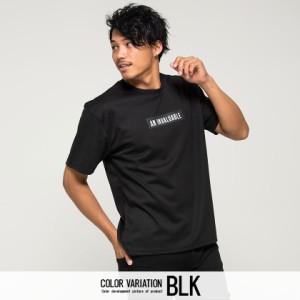 CavariA キャバリア ビッグシルエット ボックスロゴ バック 英字 プリント クルーネック 半袖 Tシャツ 全4色 即日配送 メンズ 刺繍