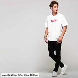 CavariA キャバリア ビッグシルエット カラ— ボックスロゴ バックプリント クルーネック 半袖 Tシャツ 全2色 即日配送 メンズ