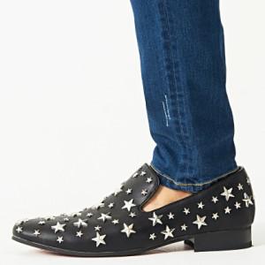 SB select シルバーバレットセレクト スター スタッズ付き オペラシューズ 全3色 靴 メンズ シューズ 星 スリッポン 合皮 ビター系