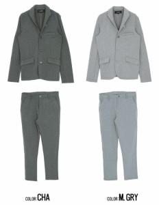 SALE ポイント10%還元 VICCI ビッチ カルゼ イタリアンカラー ジャケット セットアップ 全3色 メンズ テーラード スラックス パンツ sq