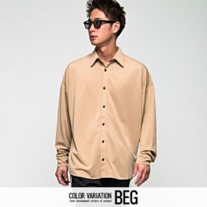 VICCI ビッチ ビッグシルエット レギュラーカラー 長袖 ポンチ シャツ 全5色 メンズ ポンチ ジャージ BITTER系 ビター系 trend_d rrp