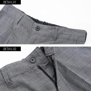 VICCI ビッチ グレンチェック柄 クロップド パンツ 全1色 メンズ 九分丈 七分丈 細身 タイト スリム  テーパード モード trend_d ttp