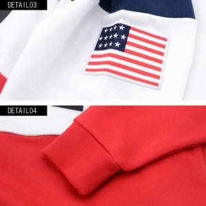 VICCI ビッチ USA プリント ハーフジップ ハイネック 長袖 スウェット トレーナー 全2色 長袖 メンズ トップス 星条旗 ビター系 rrp