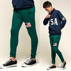 VICCI ビッチ 星条旗 ワッペン付き スウェット リブパンツ 全6色 メンズ リブ仕様 スター 星 カジュアル ストリート ビター trend_d bq