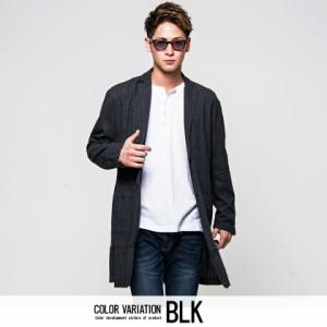 VICCI ビッチ グレンチェック柄 ロング丈 コート 全3色 メンズ ビジネス 薄手 春 他と被らない ブラウン ブラック グレー ビター系 oq
