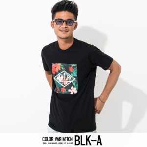 VICCI ビッチ ボタニカル柄 プリント クルーネック 半袖 Tシャツ 全4色 メンズ トップス カットソー 丸首 夏 春 花柄 インナー 白 黒