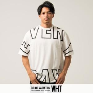 VICCI ビッチ 天竺 ロゴ プリント クルーネック ビッグシルエット 半袖 Tシャツ 全3色 即日配送 メンズ ロング 大きめ レイヤード