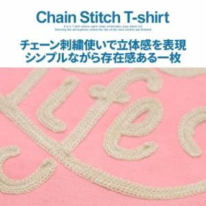 CCI ビッチ チェーン刺繍 クルーネック 半袖 Tシャツ 全6色 即日配送 メンズ トップス カジュアル サーフ ホワイト ブラック ネイビー