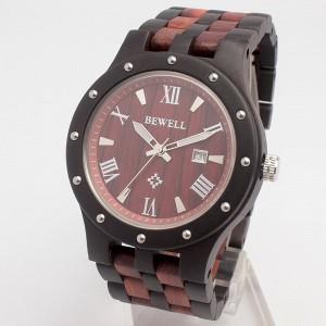 日本製ムーブメント 天然素材 木製腕時計 日付カレンダー 軽い 軽量  WDW018-04 メンズ腕時計 送料無料