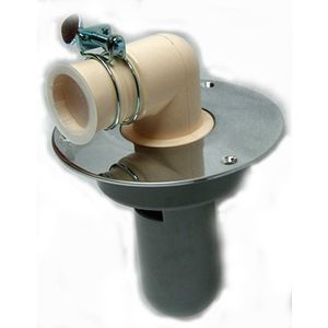 洗濯機用床排水トラップ D-STCB2-PU塩ビ管75VPVU兼用