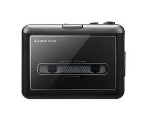 グリーンハウス カセットテープ変換プレーヤー GH-CTPB-BK