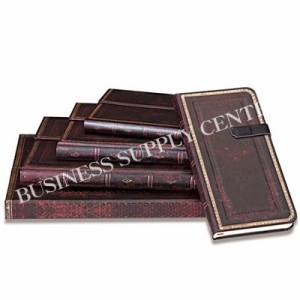 【メール便可能】Hartley&Marks社 paperblanks(ペーパーブランクス) ノートブック アンティークレザースタイル ブラックモロッカン<MINI
