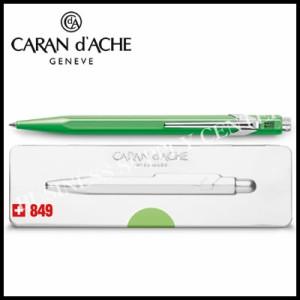 ★限定品★Caran d'Ache(カランダッシュ) ボールペン 849ポップライン 缶ケース入り 蛍光グリーン NF0849-730