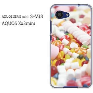 ゆうパケ送料無料スマホケース ハード SHV38 AQUOS Xx3 mini アクオス クリア 【キャンディーミックス/shv38-M940】