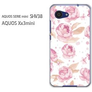 ゆうパケ送料無料スマホケース ハード SHV38 AQUOS Xx3 mini アクオス クリア 花・バラ(ピンク)/shv38-pc-new0004]