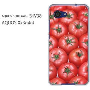 ゆうパケ送料無料スマホケース ハード SHV38 AQUOS Xx3 mini アクオス クリア スイーツ・トマト(赤)/shv38-pc-new0844]