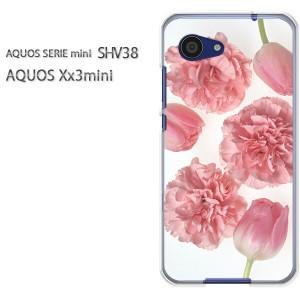 ゆうパケ送料無料スマホケース ハード SHV38 AQUOS Xx3 mini アクオス クリア 花・カーネーション(ピンク)/shv38-pc-new1110]