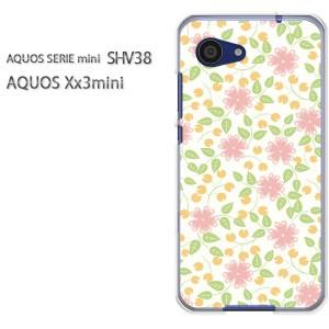 ゆうパケ送料無料スマホケース ハード SHV38 AQUOS Xx3 mini アクオス クリア 【フラワー072/shv38-PM072】