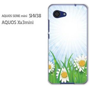 ゆうパケ送料無料スマホケース ハード SHV38 AQUOS Xx3 mini アクオス クリア 【フラワー191/shv38-PM191】