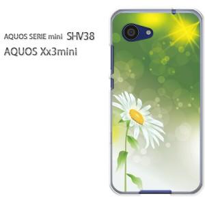 ゆうパケ送料無料スマホケース ハード SHV38 AQUOS Xx3 mini アクオス クリア 【フラワー214/shv38-PM214】
