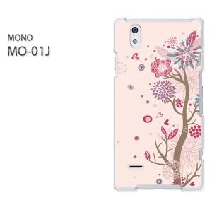 DM便送料無料スマホケース ハード MONO MO-01Jクリア  [花・ハート(ピンク)/mo01j-pc-ne329]