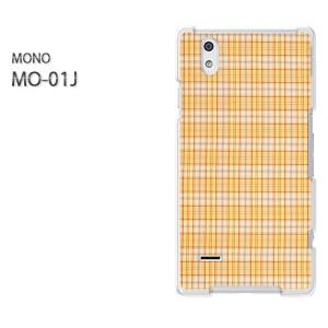 DM便送料無料スマホケース ハード MONO MO-01Jクリア [チェック(ベージュ)/mo01j-pc-new0285]