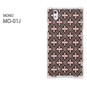 ゆうパケ送料無料スマホケース ハード MONO MO-01Jクリア 和柄(ピンク)/mo01j-pc-new1238]