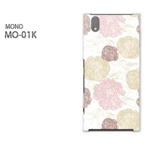 ゆうパケ送料無料スマホケース ハード MONO MO-01Kクリア 花(ピンク)/mo01k-pc-new0014]