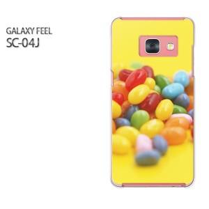 Galaxy Feel SC-04J ケース ハード スマホ ゆうパケ送料無料 クリア スイーツ・ゼリー(黄・赤)/sc04j-pc-new0399]