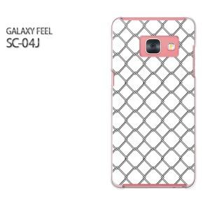 Galaxy Feel SC-04J ケース ハード スマホ ゆうパケ送料無料 クリア シンプル(白)/sc04j-pc-new0925]