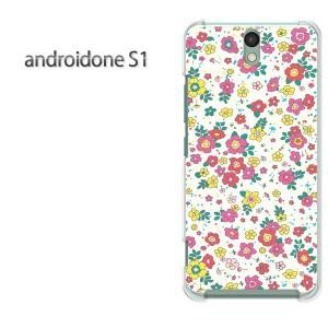 ゆうパケ送料無料スマホケース ハード android One S1 クリア 【小花/androidones1-M721】