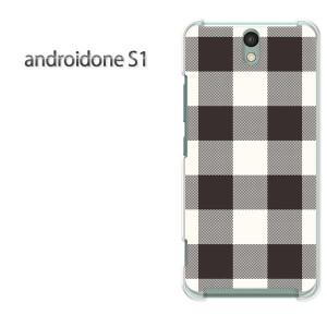 ゆうパケ送料無料スマホケース ハード android One S1 クリア 【チェック2(白)/androidones1-M855】