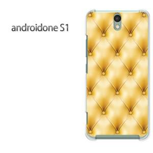 ゆうパケ送料無料スマホケース ハード android One S1 クリア シンプル・レザー(黄)/androidones1-pc-new1814]