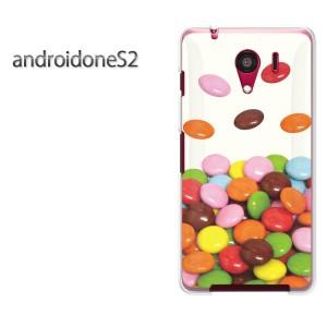 ゆうパケ送料無料スマホケース ハード android One S2 クリア 【マーブルチョコレート/androidones2-M513】