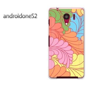 ゆうパケ送料無料スマホケース ハード android One S2 クリア  [花(オレンジ)/androidones2-pc-ne158]