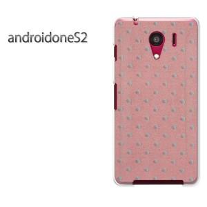 ゆうパケ送料無料スマホケース ハード android One S2 クリア [ドット(ピンク)/androidones2-pc-new0282]