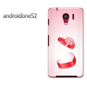 ゆうパケ送料無料スマホケース ハード android One S2 クリア ハート(ピンク))/androidones2-pc-new0599]