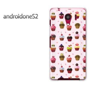 ゆうパケ送料無料スマホケース ハード android One S2 クリア スイーツ・ケーキ(ピンク)/androidones2-pc-new1101]