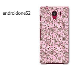 ゆうパケ送料無料スマホケース ハード android One S2 クリア [花・レトロ(ピンク)/androidones2-pc-new1657]