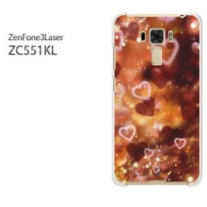 ゆうパケ送料無料スマホケース ハード ZenFone3Laser ZC551KL クリア 【ハートクリスタル(C)/zc551kl-M959】