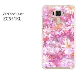 DM便送料無料スマホケース ハード ZenFone3Laser ZC551KL クリア 【フラワーミックス(C)/zc551kl-M971】