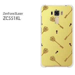 ゆうパケ送料無料スマホケース ハード ZenFone3Laser ZC551KL クリア  鍵・キー・シンプル(ブラウン)/zc551kl-pc-ne360]