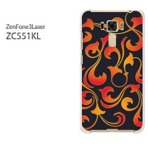 ゆうパケ送料無料スマホケース ハード ZenFone3Laser ZC551KL クリア  [トライバル・シンプル(黒)/zc551kl-pc-ne411]