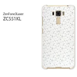 ゆうパケ送料無料スマホケース ハード ZenFone3Laser ZC551KL クリア シンプル(グレー)/zc551kl-pc-new0242]