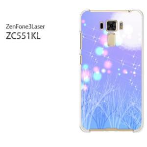 ゆうパケ送料無料スマホケース ハード ZenFone3Laser ZC551KL クリア [冬・シンプル・雪(紫)/zc551kl-pc-new0809]