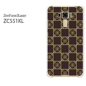 ゆうパケ送料無料スマホケース ハード ZenFone3Laser ZC551KL クリア シンプル(ブラウン)/zc551kl-pc-new0920]
