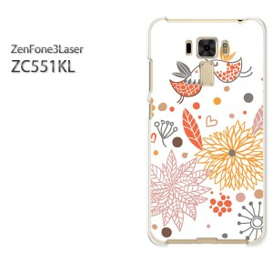 DM便送料無料スマホケース ハード ZenFone3Laser ZC551KL クリア [花(オレンジ)/zc551kl-pc-new1323]