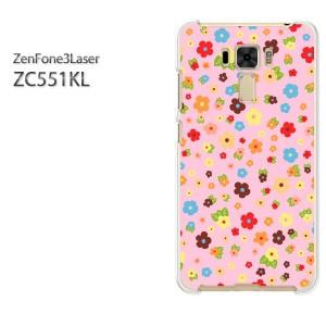 ゆうパケ送料無料スマホケース ハード ZenFone3Laser ZC551KL クリア [花・カラフル(ピンク)/zc551kl-pc-new1647]