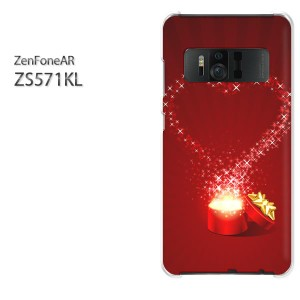ゆうパケ送料無料スマホケース ハード ZenFoneAR ZS571KL クリア ハート・キラキラ(赤)/zs571kl-pc-new0604]